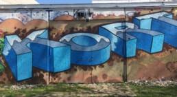 von wem ist dieses Graffiti in Unterhaching?
